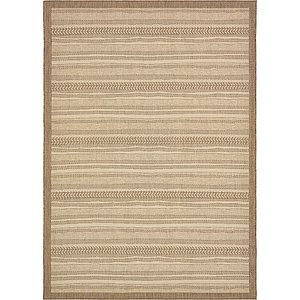 Unique Loom 8' x 11' 4 Outdoor Border Rug