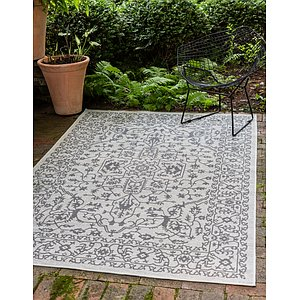 Unique Loom 9' x 12' Outdoor Botanical Rug