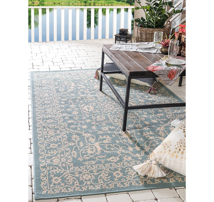 213cm x 305cm Outdoor Botanical Rug