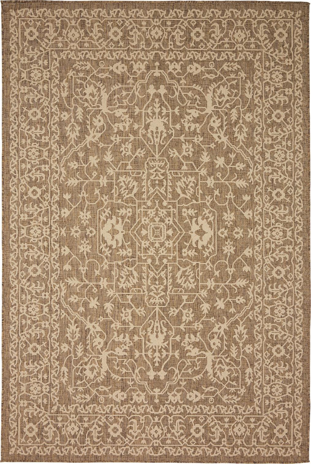 Brown 6 X 9 Outdoor Botanical Rug Area Rugs Handknotted Com