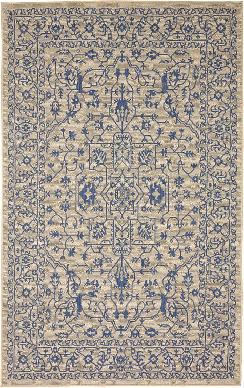 beige 5 39 x 8 39 outdoor botanical rug area rugs irugs uk. Black Bedroom Furniture Sets. Home Design Ideas