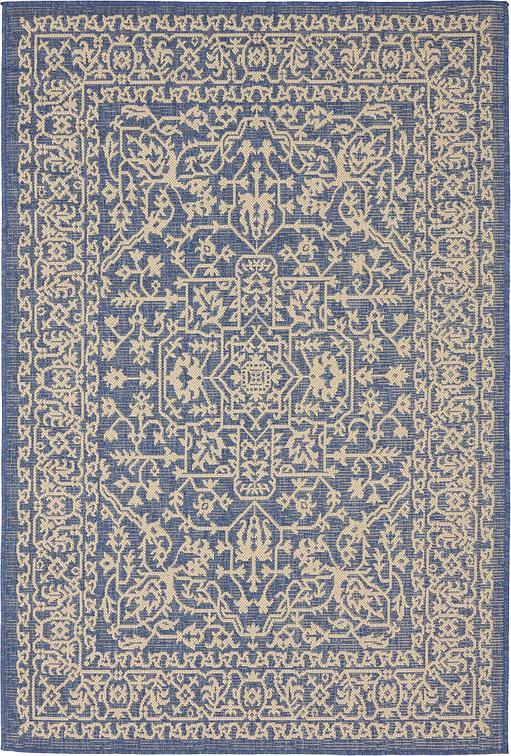 blue 4 39 x 6 39 outdoor botanical rug area rugs irugs uk. Black Bedroom Furniture Sets. Home Design Ideas