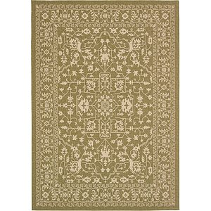 Unique Loom 8' x 11' 4 Outdoor Botanical Rug