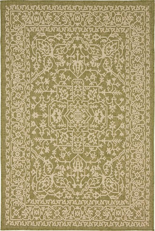 green 4 39 x 6 39 outdoor botanical rug area rugs irugs uk. Black Bedroom Furniture Sets. Home Design Ideas