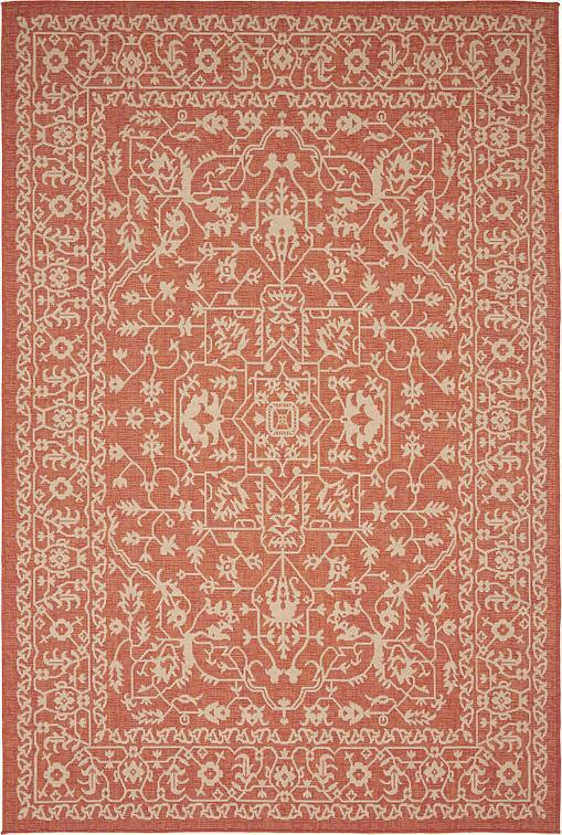 terracotta 6 39 x 9 39 outdoor botanical rug area rugs. Black Bedroom Furniture Sets. Home Design Ideas