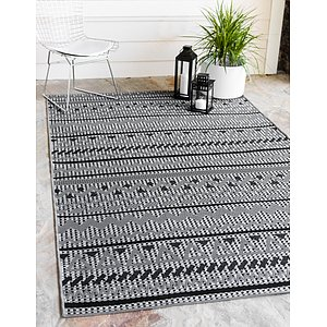 Unique Loom 6' x 9' Outdoor Modern Rug