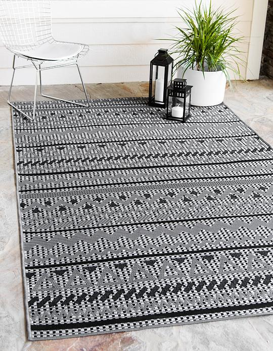 Gray 4 X 6 Outdoor Modern Rug Area Rugs Rugs Ca