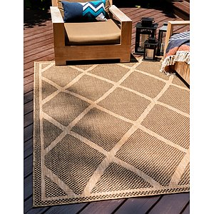 Unique Loom 8' x 11' 4 Outdoor Rug