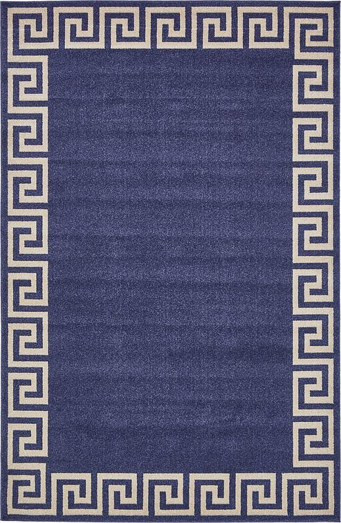 Navy Blue 6 X 9 Greek Key Rug Area Rugs Esalerugs