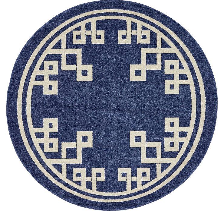 6' x 6' Greek Key Round Rug