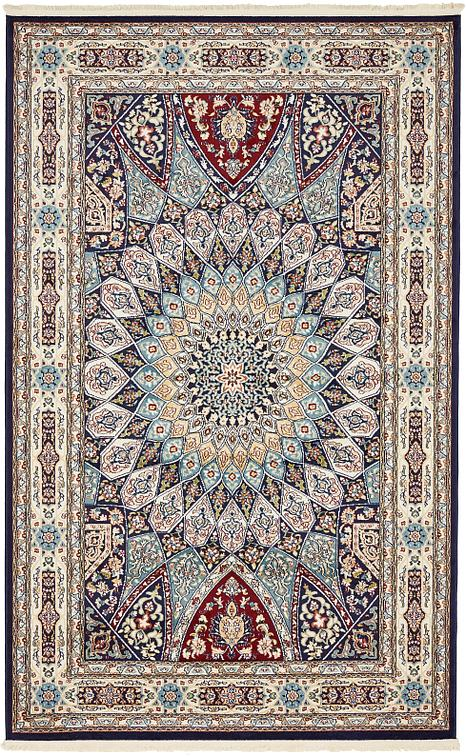 Navy Blue 152cm X 245cm Nain Design Rug Area Rugs Au Rugs