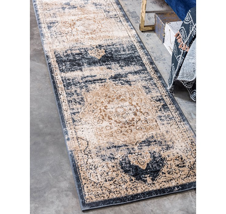 Dark Blue Eliza Runner Rug