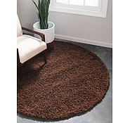 Link to 8' 2 x 8' 2 Solid Shag Round Rug