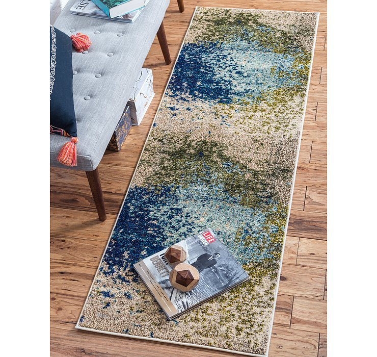 Blue Hyacinth Runner Rug