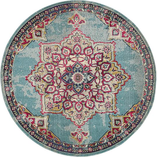 Light Blue 8 X 8 Palazzo Round Rug Area Rugs Esalerugs