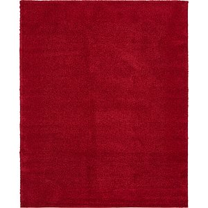 7x10 Red Solid Frieze  Rugs!