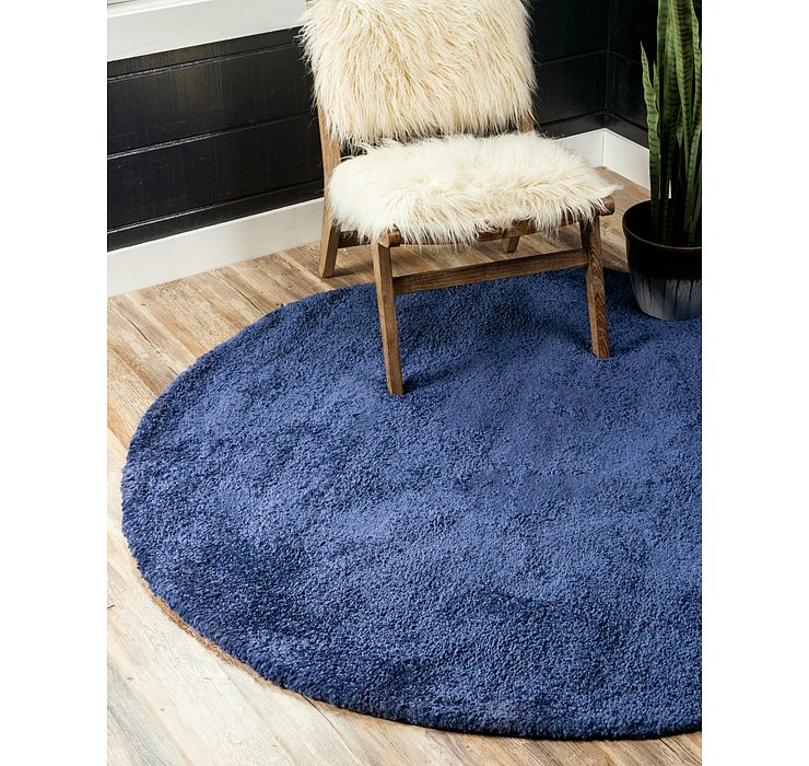 8' x 8' Basic Frieze Round Rug