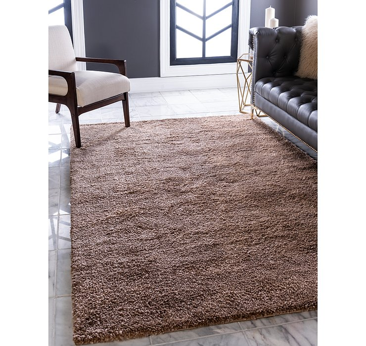 Light Brown Basic Frieze Rug