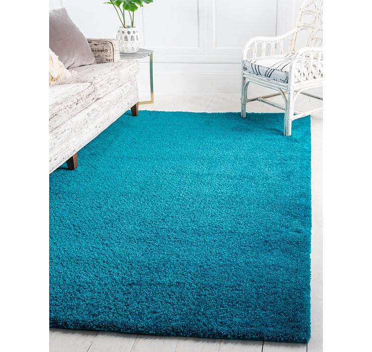 Turquoise Basic Frieze Rug