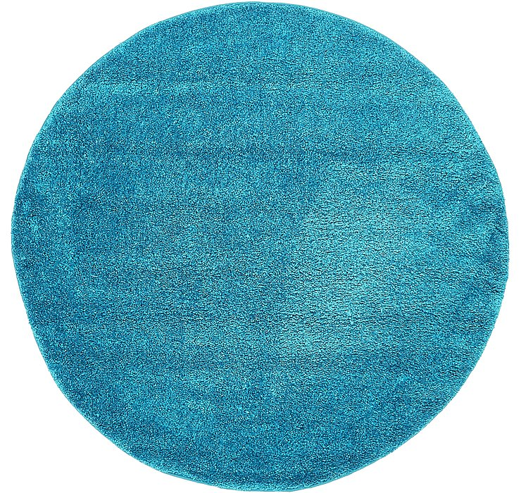 6' x 6' Solid Frieze Round Rug