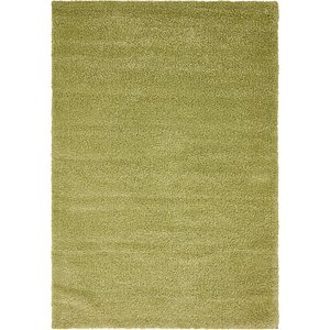5x8 Green Solid Frieze  Rugs