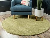 8' x 8' Solid Frieze Round Rug thumbnail