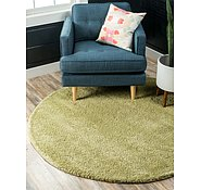 Link to 8' x 8' Solid Frieze Round Rug