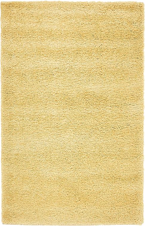 yellow 100cm x 160cm solid frieze rug | area rugs | irugs ch