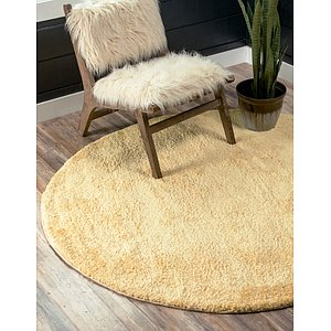 245cm x 245cm Solid Frieze Round Rug