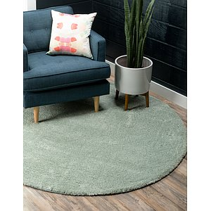 8' x 8' Solid Frieze Round Rug