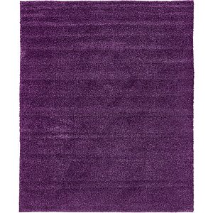 8x11 Purple Solid Frieze  Rugs!