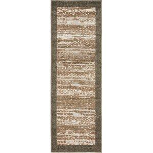 Unique Loom 2' x 6' Outdoor Modern Runner Rug
