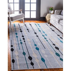 Unique Loom 7' x 10' Outdoor Modern Rug