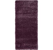 Link to 2' 7 x 6' Luxe Solid Shag Runner Rug