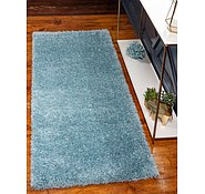 Link to Unique Loom 2' 7 x 6' Luxe Solo Runner Rug