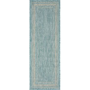 Unique Loom 2' x 6' Outdoor Border Runner Rug