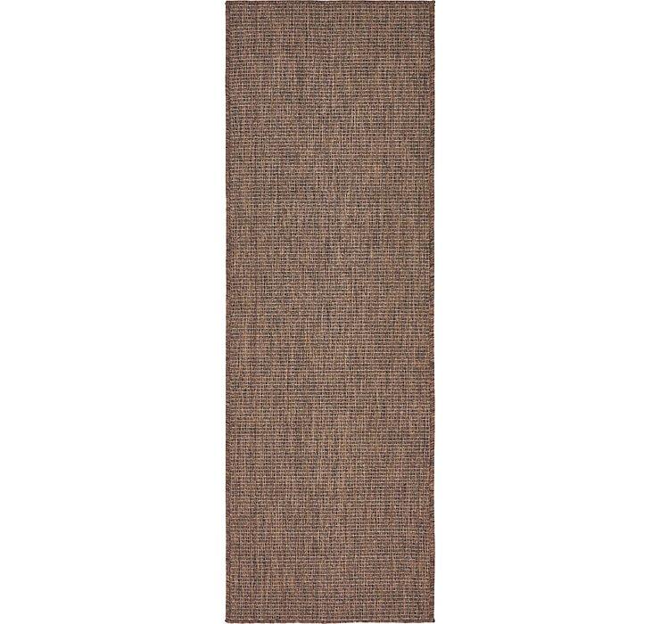 Light Brown Outdoor Basic Runner Rug