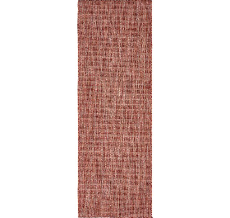 Rust Red Outdoor Basic Runner Rug