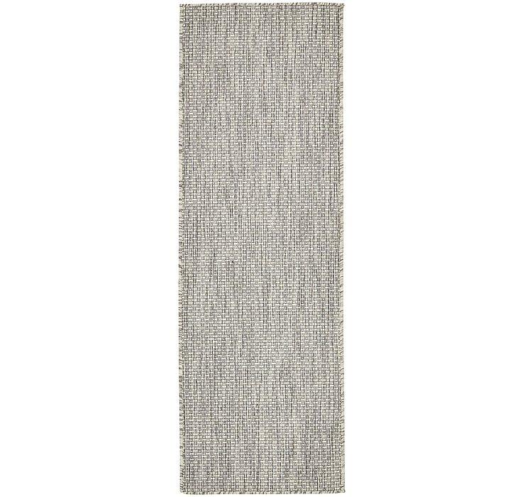 Light Gray Outdoor Basic Runner Rug