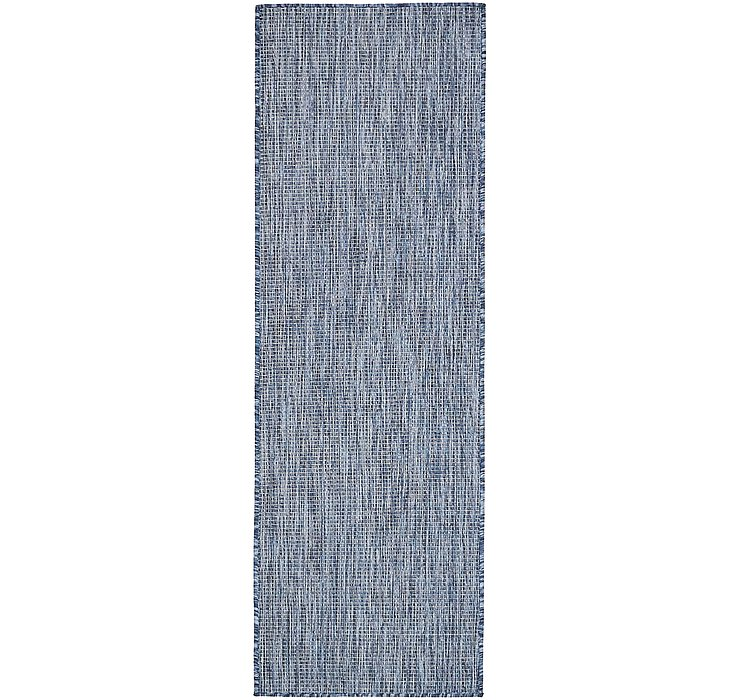 Blue Outdoor Basic Runner Rug