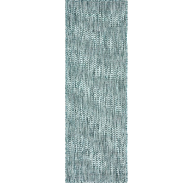 2' x 6' Outdoor Solid Runner Rug