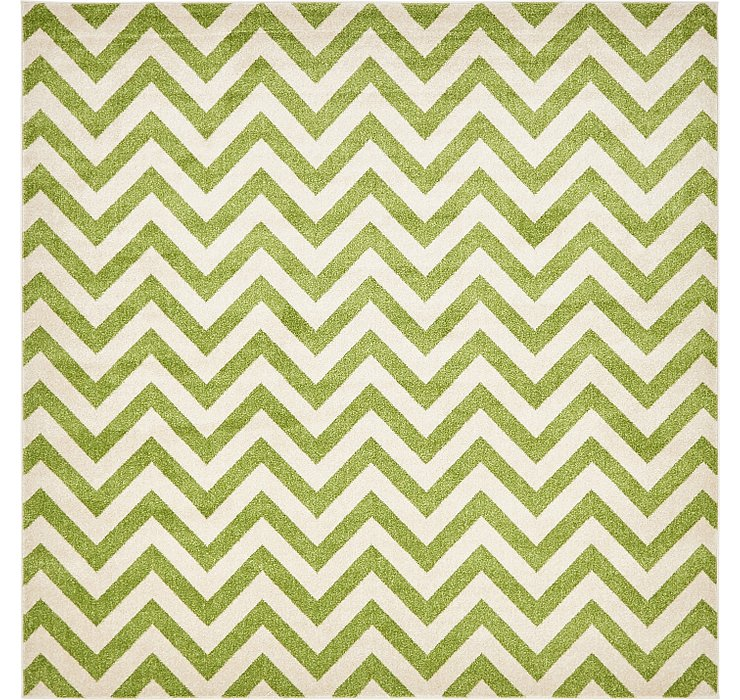 8' x 8' Chevron Square Rug