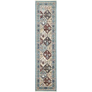90cm x 395cm Tabriz Design Runner Rug