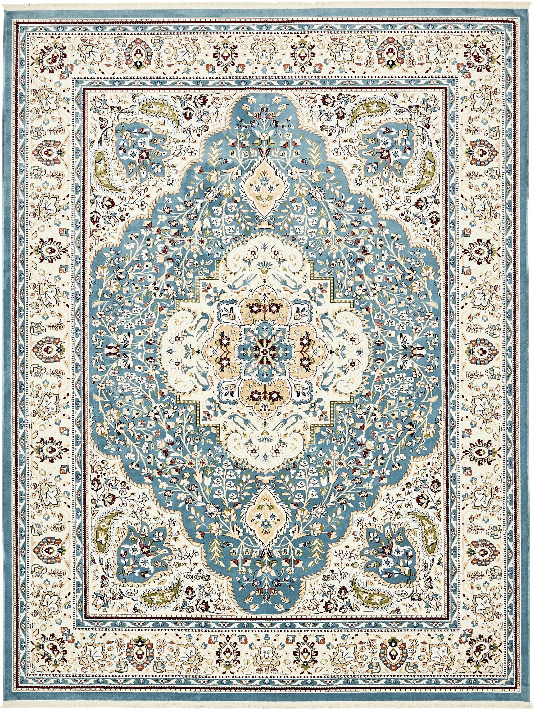 Blue 10 X 13 Tabriz Design Rug Esalerugs