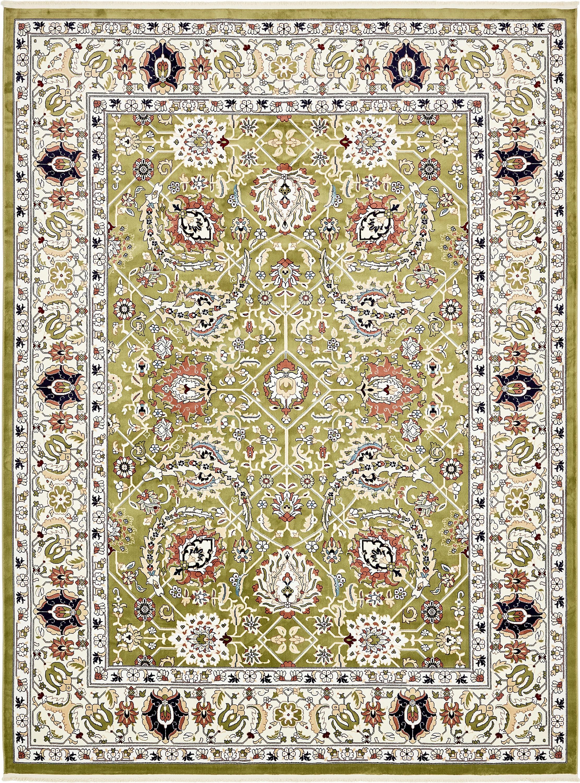 Green 10 X 13 Tabriz Design Rug Esalerugs