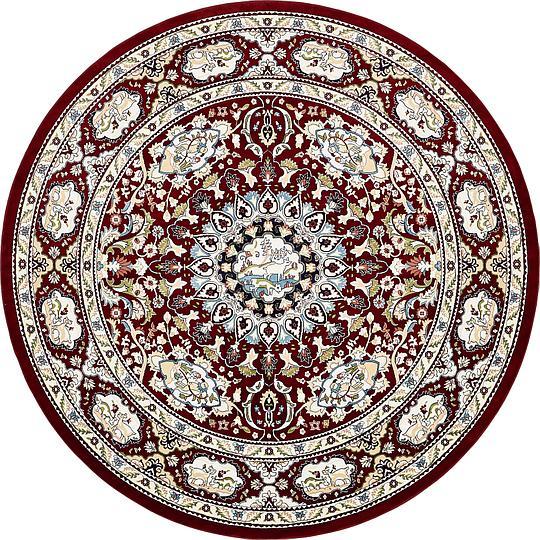 Burgundy 10 x 10 Tabriz Design Round Rug