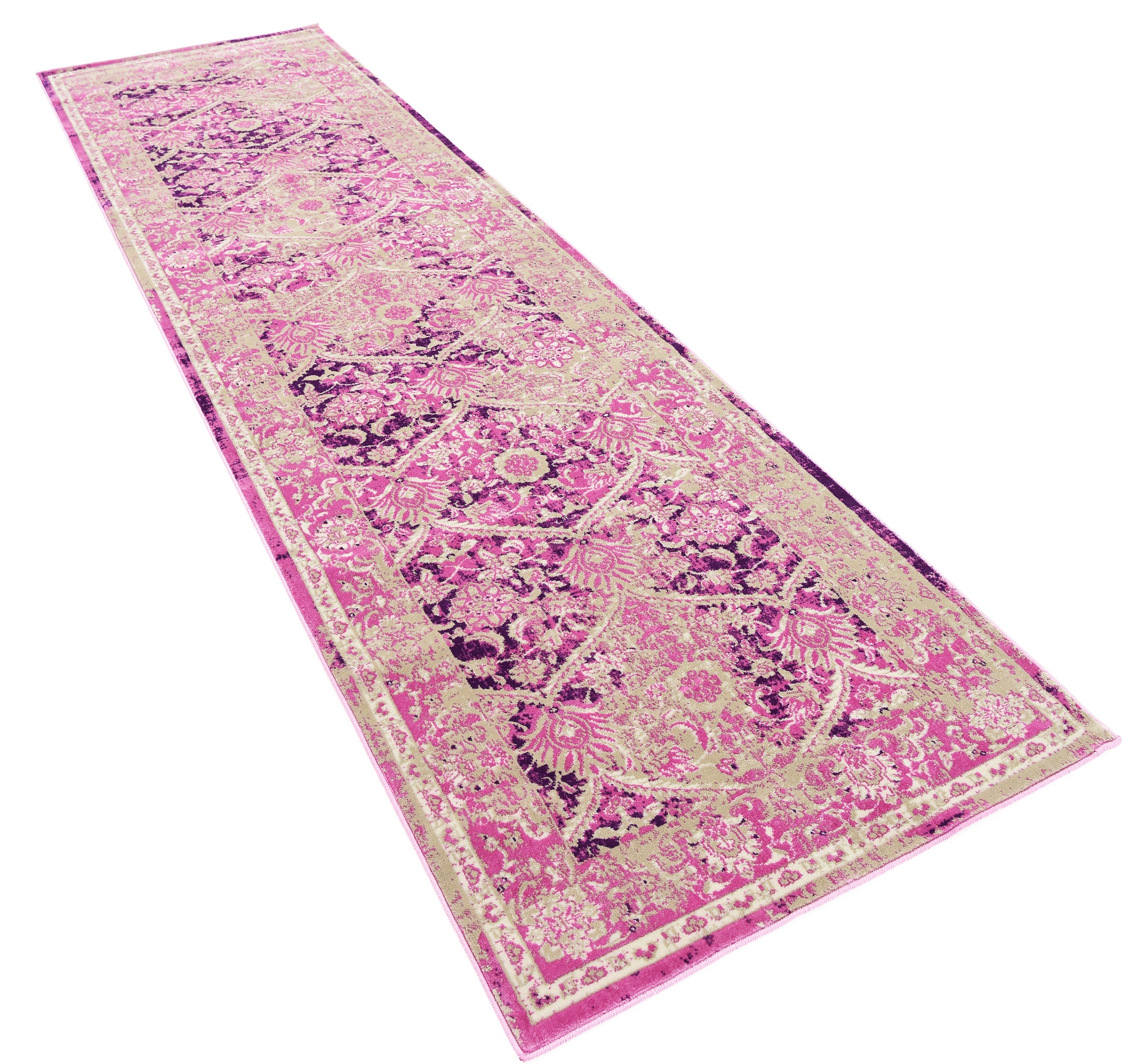 Traditional Persian Style Pink Colorful Soft Area Rug