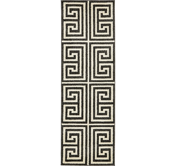 2' x 6' Greek Key Runner Rug