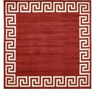 244x244 Greek Key Rug