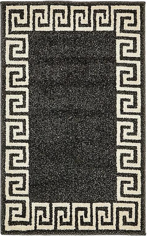 Charcoal 2 X 3 Greek Key Rug Area Rugs Irugs Uk